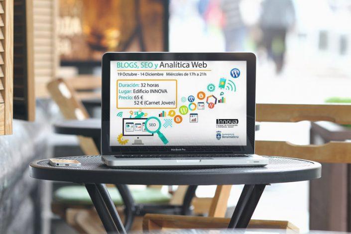 Cartel curso blogs seo analítica web benalmádena - pedropluque