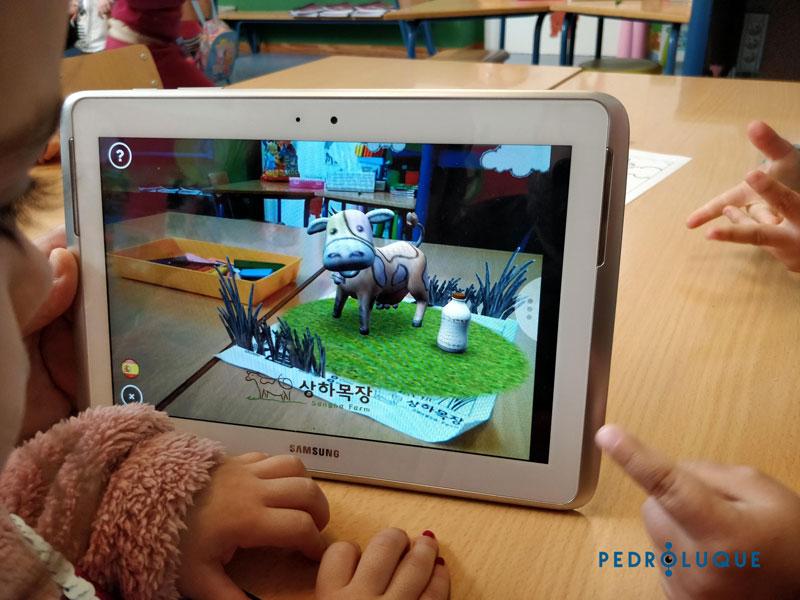 Jugamos con Quiver. Realidad Aumentada en educación infantil. Vaca