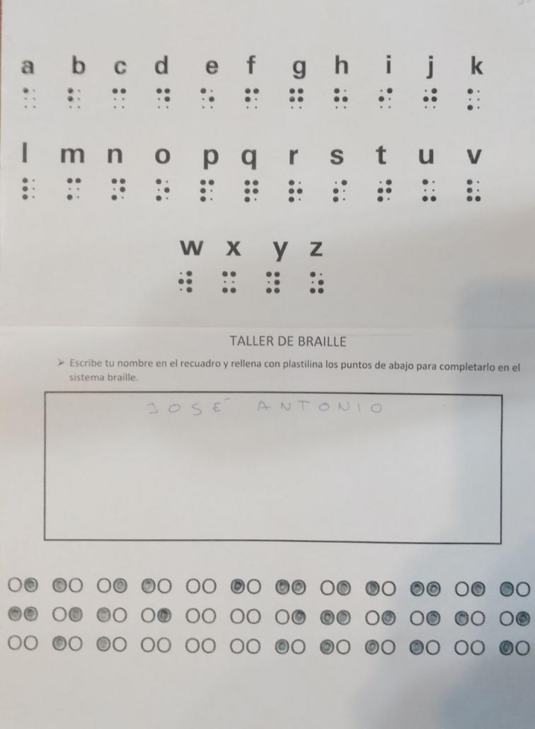 diversidad funcional en infantil braille