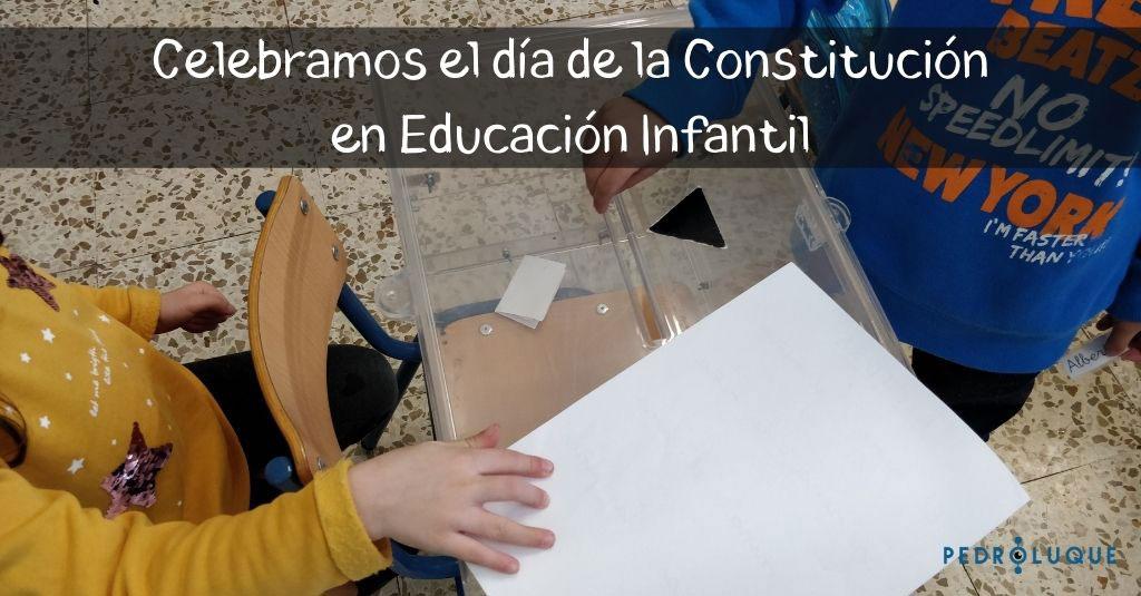 día de la constitución en educación infantil